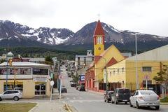 Unsere Mary der Gnaden-Kirche in Ushuaia, Argentinien stockfotografie