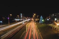 Unsere Stadt nachts Lizenzfreie Stockbilder