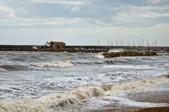 Unsettled Seas ~ Lyme Regis Royalty Free Stock Photography