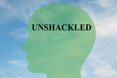 Unshackled - mental concept Stock Photo