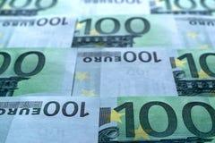 Unsharp предпосылка коллаж от банкнот евро Стоковое Изображение RF