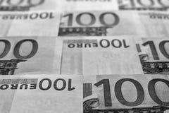 Unsharp предпосылка коллаж от банкнот евро Стоковое Изображение