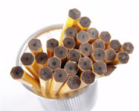 Unsharpened Pencils. Photo of unsharpened pencils - Part of Series stock images