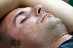 Unshaved und Schlafen Stockbilder