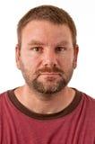 Unshaven Caucasian male Stock Image
