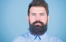 Unshaven and handsome. Caucasian hipster. Bearded man with fashion haircut. Brutal man with long beard hair and mustache stock images