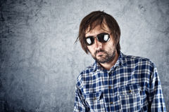 Unshaven man with sunglasses Royalty Free Stock Images