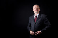 Unshaven mature businessman Stock Photography