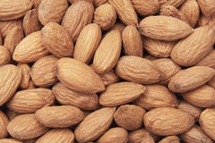 Unshelled almonds Royalty Free Stock Images