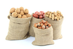 Unshelled Different Types Nuts. Royalty Free Stock Images