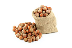 Unshelled Hazelnuts  Nuts. Stock Photos