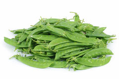 Unshelled sugar peas Stock Photo