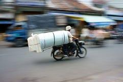 Unsicher, Gefahrentransport stockfotos