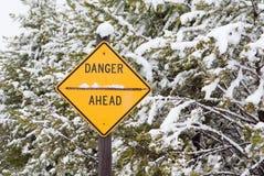 Unsichere Gefahr Stockbild