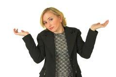 Unsichere junge Frau Lizenzfreie Stockfotografie