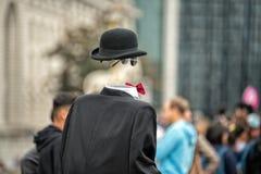 Unsichtbarer Mann in der Stadtstraße Lizenzfreie Stockfotos