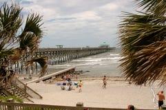 Unsinnigkeit-Strand in Charleston, Sc stockbilder