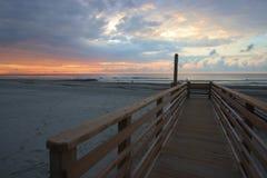 Unsinnigkeits-Strand Süd-Carolina Sunrise stockfotografie