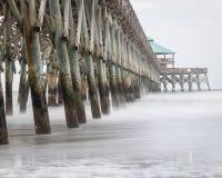 Unsinnigkeits-Strandpier in South Carolina Stockfotografie