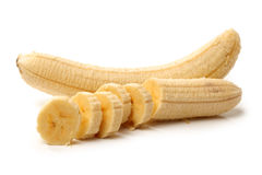Unskin banana slices Royalty Free Stock Images