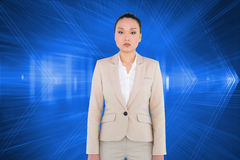 Unsmiling asian businesswoman Royalty Free Stock Photos