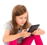 Unsociable Children Beacuse of Technology Royalty Free Stock Photography