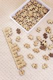 Unsolved Jigsaw Puzzles Pieces Stock Photo