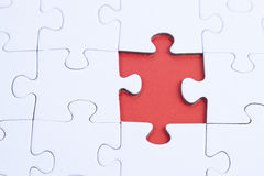 Unsolved Puzzle Stock Photo