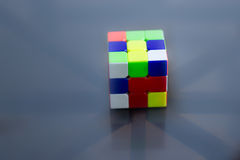 Unsolved rubics cube Royalty Free Stock Photography