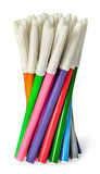 Unsorted set of colored felt pens in bunch Royalty Free Stock Photography