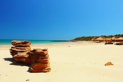 Unspoiled пляж, западная Австралия Стоковая Фотография RF