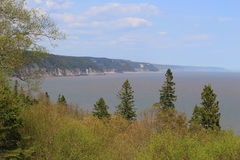 Unspoiled coast on the Fundy Trail Parkway. Unspoiled Beaches on the coast of  the Fundy Trail Parkway in New Brunswick, Canada Royalty Free Stock Image