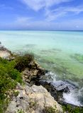 Unspoiled Coast. Unspoiled place at the east wild coast of Santa María Key, Cuba. This zone is part of an important Biosphere Reserve called Buenavista and it stock photos