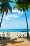Unspoiled idyllic beach. In Sri Lanka Stock Photos