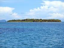 Unspoiled island. Unspoiled Caribbean island with lush vegetation, Bocas del Toro, Panama Stock Photography