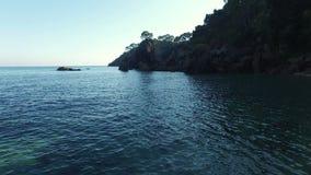 Unspoiled Mediterranean Beach Aerial Shoot stock video