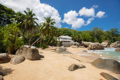 Unspoiled tropical beach in Sri Lanka. Royalty Free Stock Images