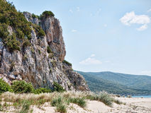 Unspoilt rocky cliff coastline Stock Photography