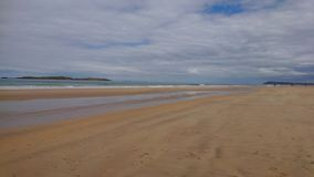 Unspoilt sandy beach Northern Irish Coastline stock image