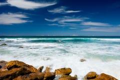 Unspoilt strand fotografering för bildbyråer