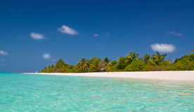 Unspoilt tropical beach Royalty Free Stock Photo