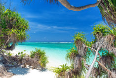 Unspoilt tropikalna plaża fotografia stock