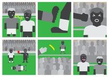 Unsportsmanlike uppförande för fotboll Royaltyfri Fotografi