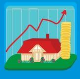 Unstable housing market. Vector Illustration Royalty Free Stock Photo
