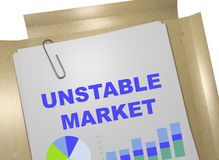 Unstable Market - business concept Royalty Free Stock Photography