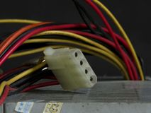 Unstable power cord Stock Photography