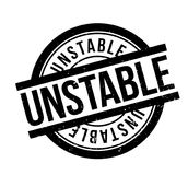 Unstable rubber stamp. Grunge design with dust scratches. Effects can be easily removed for a clean, crisp look. Color is easily changed Stock Image