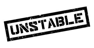 Unstable rubber stamp. On white. Print, impress overprint Royalty Free Stock Images