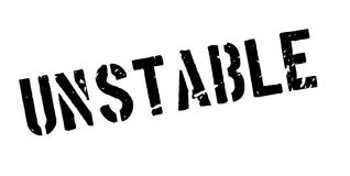Unstable rubber stamp. On white. Print, impress overprint Royalty Free Stock Photo