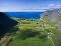 Unstad on Lofoten Stock Image